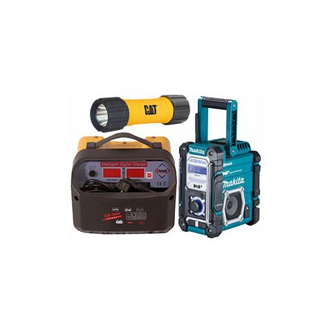 Jármű akkumulátor töltők, munka lámpák, rádiók