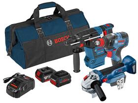 Bosch GBH 18V-26+GDX 18V-200 C+GWS 18V-10 gépcsomag