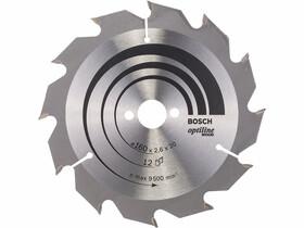 Bosch Optiline Wood ø 160 x 2,6 / 1,6 x 20 / 16 mm körfűrészlap