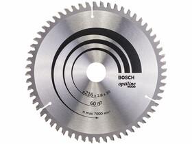 Bosch Optiline Wood ø 216 x 2,8 / 1,8 x 30 mm körfűrészlap