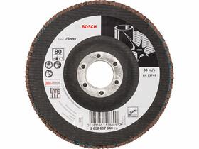 Bosch X581 ø 125 mm, ø 22,23 mm, P80 lamellás csiszolótárcsa