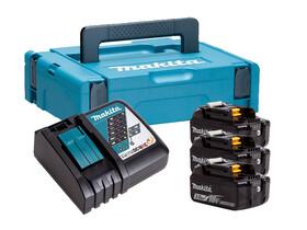 Makita BL1830 3,0 Ah akkumulátor (3db) + DC18RC töltő + Makpac szett