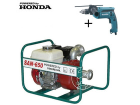 SAN-650 szennyvízszivattyú Honda benzinmotorral