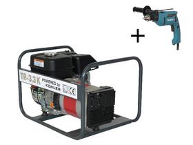 TR 3,3 K Kohler benzinmotoros áramfejlesztő