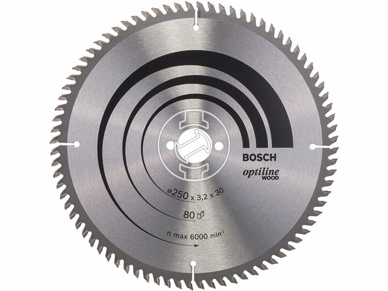 Bosch Optiline Wood ø 250 x 3,2 / 2,2 x 30 mm körfűrészlap
