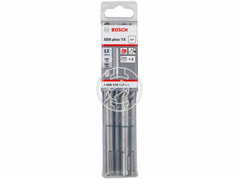 Bosch SDS Plus-7X ø 12 x 100 x 165 mm SDS-Plus négyélű fúrószár