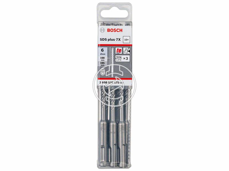 Bosch SDS Plus-7X ø 6 x 100 x 165 mm SDS-Plus négyélű fúrószár