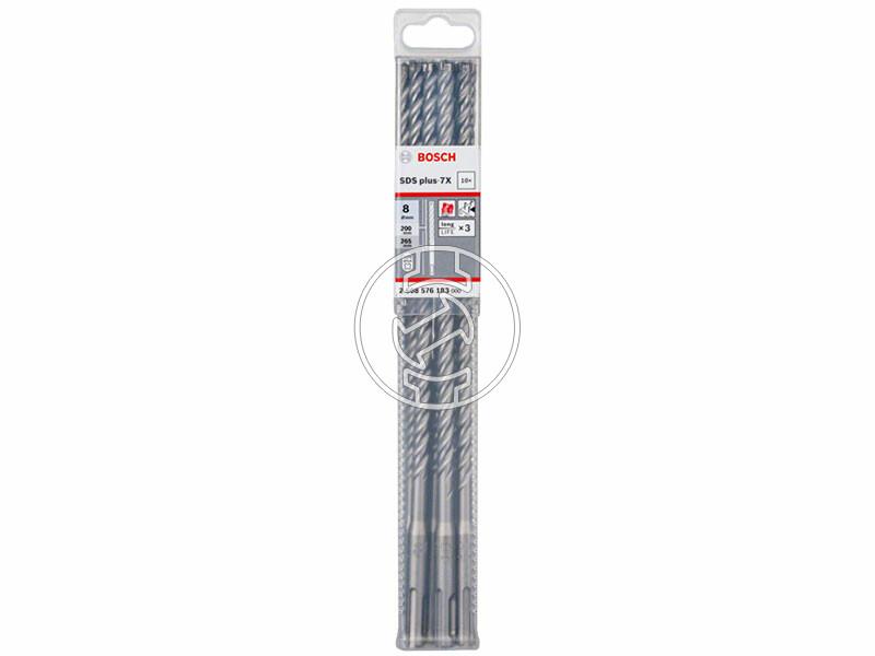 Bosch SDS Plus-7X ø 8 x 200 x 265 mm SDS-Plus négyélű fúrószár