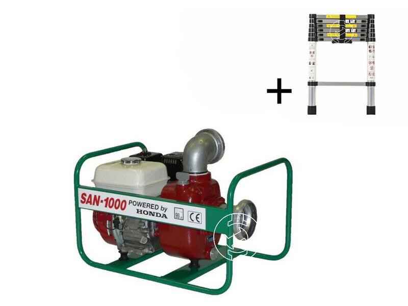SAN-1000 szennyvízszivattyú Honda benzinmotorral