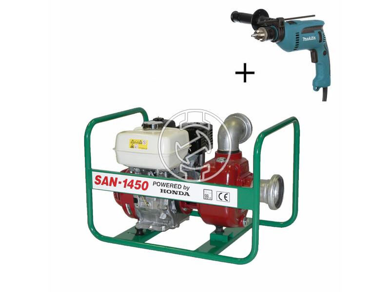 SAN-1450 szennyvízszivattyú Honda benzinmotorral