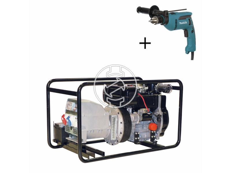 TR 12 L Lombardini dízelmotoros áramfejlesztő