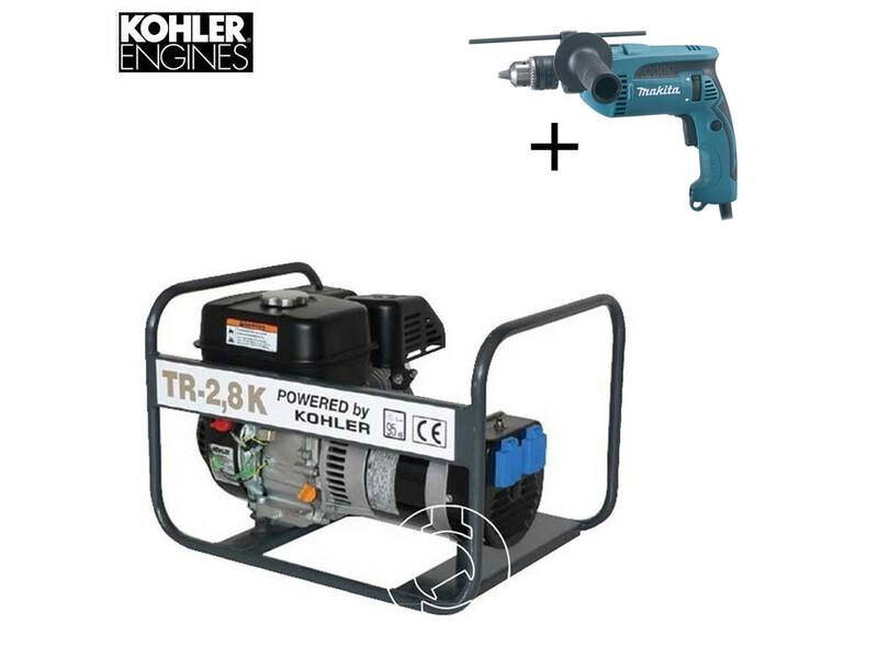 TR 2,8 K Kohler benzinmotoros áramfejlesztő