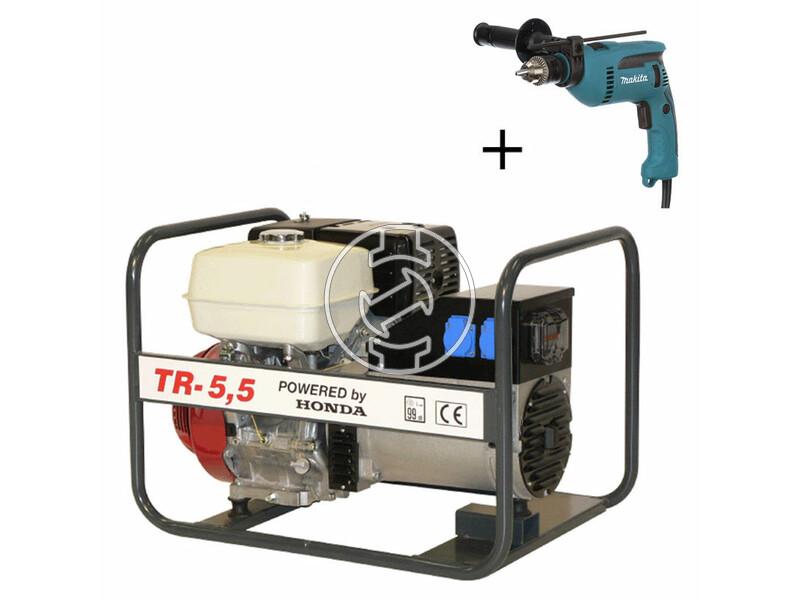 TR 5.5 Honda négyütemü benzinmotoros áramfejlesztő