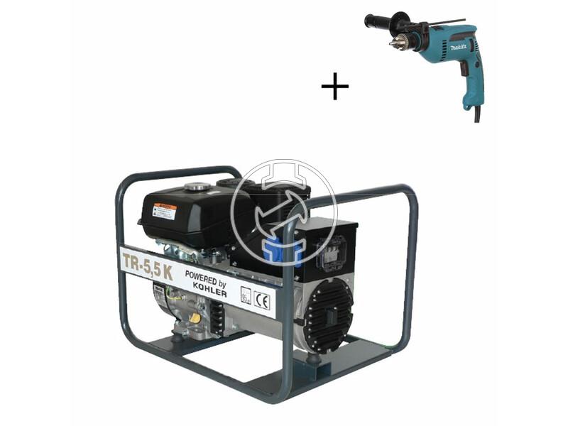 TR 5.5 K Kohler benzinmotoros áramfejlesztő