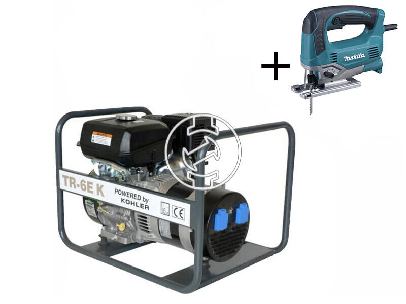 TR 6E K Kohler benzinmotoros áramfejlesztő