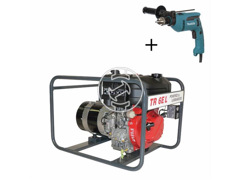TR 6E-L Lombardini dízelmotoros áramfejlesztő