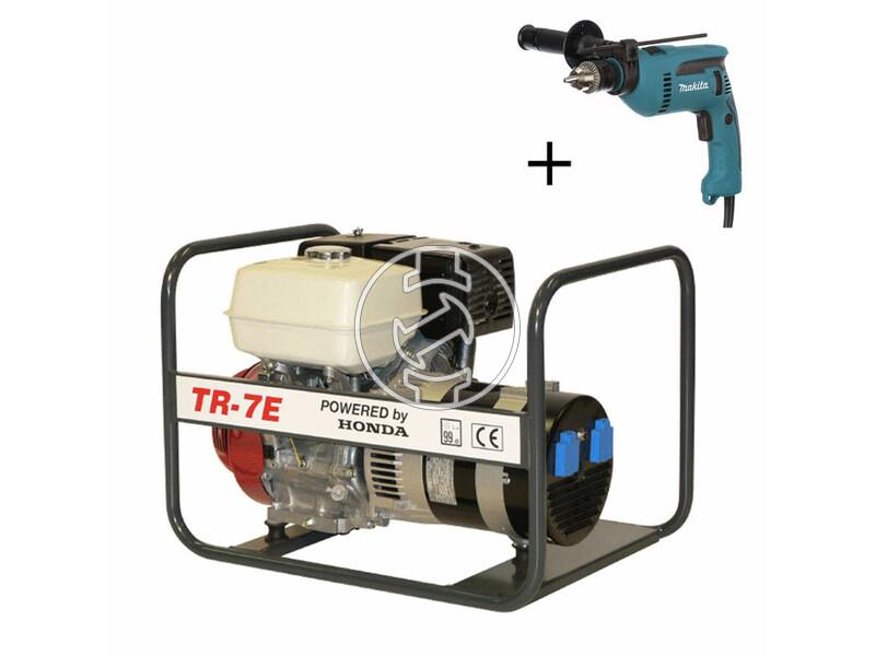 TR 7E Honda négyütemü benzinmotoros áramfejlesztő