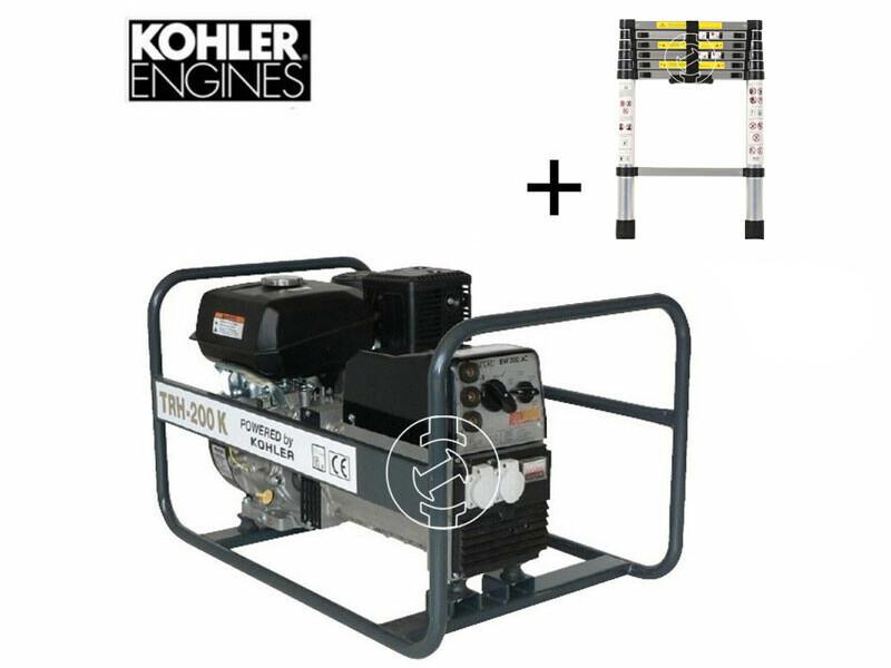 TR H-200 K Kohler benzinmotoros hegesztő-áramfejlesztő